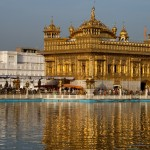 The Golden Temple in Amritsar, home of the Sikh religion