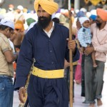 Sikh guard at the Golden Temple