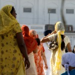 Sikh women at the Golden Temple